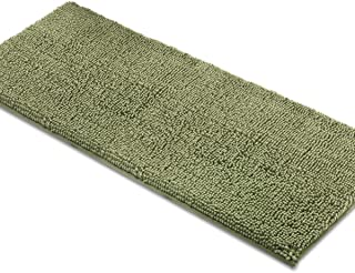 MAYSHINE Bath Mat Runners for Bathroom Rugs, Long Floor Mats, Extra Soft, Absorbent, Thickening Shaggy Microfiber, Machine-Washable, Perfect for Doormats,Tub, Shower (27.5x47 Inches, Sage Green)