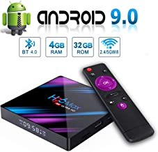 Android 9.0 TV Box, H96 MAX 4GB 32GB Smart TV Box USB 3.0 BT 4.0 2.4G 5G Dual WiFi 3D/4K H.265 KD18.1 Smart Android TV Box