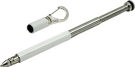 سلسلة مفاتيح على شكل قلم للهاتف مع مشبك من ترو يوتيليتي باللون الابيض