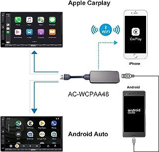 ATOTO AC-WCPAA48 Wireless CarPlay y Android Auto con Cable - Compatible con iPhone o teléfono Android, Deje Que su teléfono funcione con estéreo de automóvil Android ATOTO A6