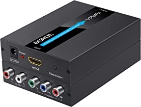 HDMI to Component Converter, EASYCEL Aluminum 1080P HDMI to YPbPr, HDMI to RGB 5RCA Scaler Converter(with Scaler Function)...