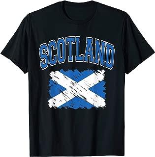Scotland Varsity Lettering with Paintbrush Style Flag T-Shirt
