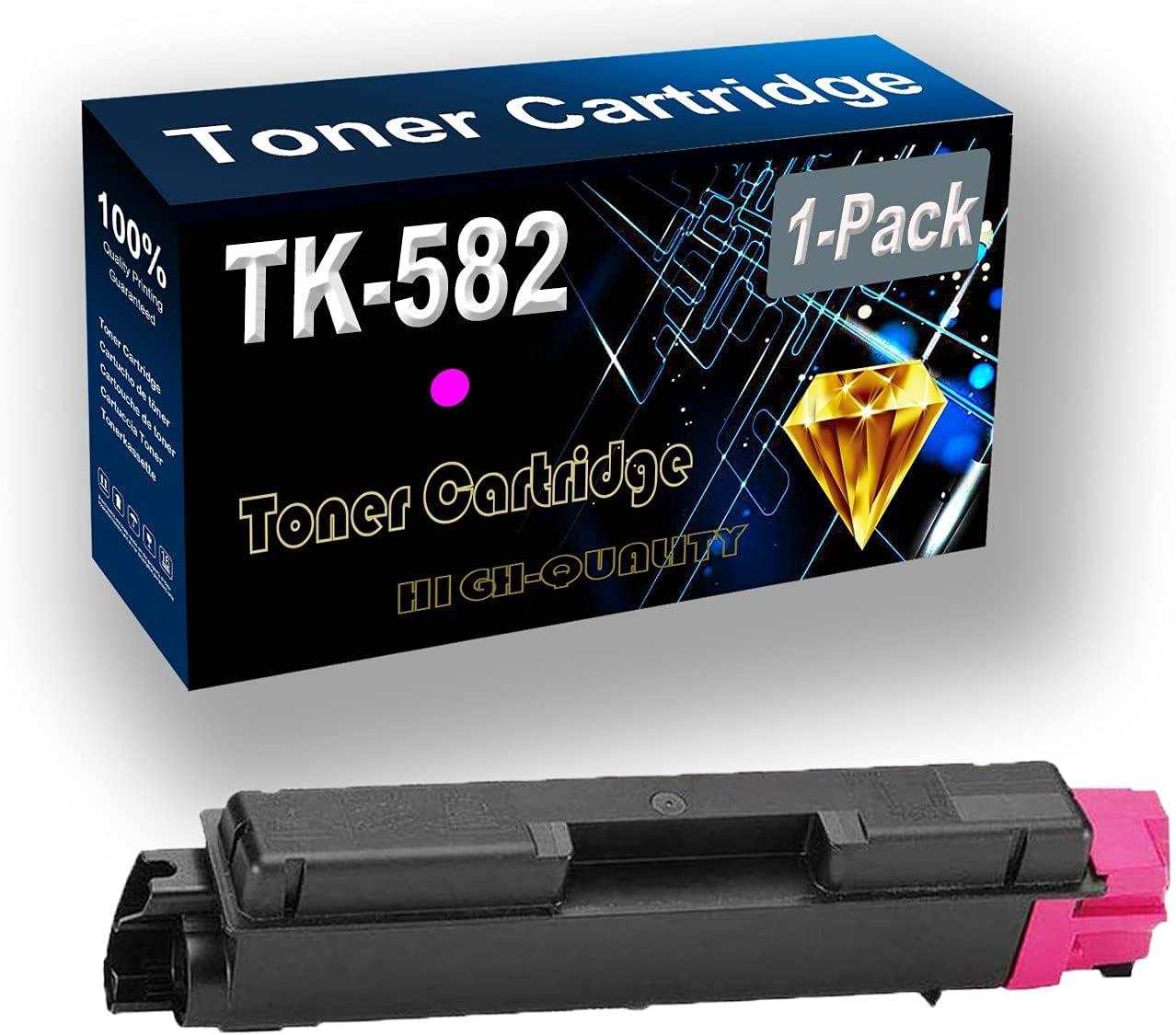 Remanufactured Toner Cartridge Replacement for Kyocera TK-582 TK582   TK-582M for Kyocera Ecosys FS-C5150DN P6021CDN Printer (1-Pack, Magenta)