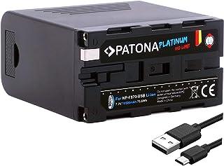 PATONA Platinum ersättning för batteri Sony NP-F970 (verklig 10500mAh / Powerbank-funktion) - LG Cells Inside - USB-utgång...