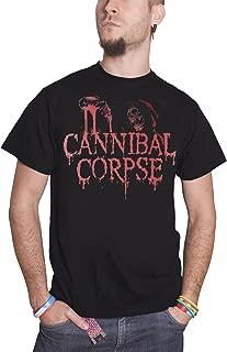 Cannibal Corpse T Shirt Acid Blood Skeleton Band Logo Official Mens Black