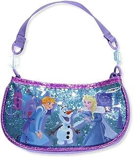 Girls' Frozen Glitter Beaded Handbag Shoulder Bag, Purple, One Size