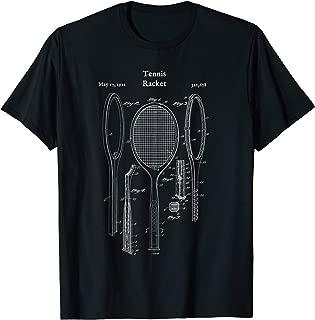 Vintage Tennis Racket Blueprint Shirt - Court Player Racquet