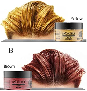 CreazyBee Unisex Hair Wax Color Washable Temporary Dye Styling Cream Mud for Cosplay, Party (Shipment in USA) (B)