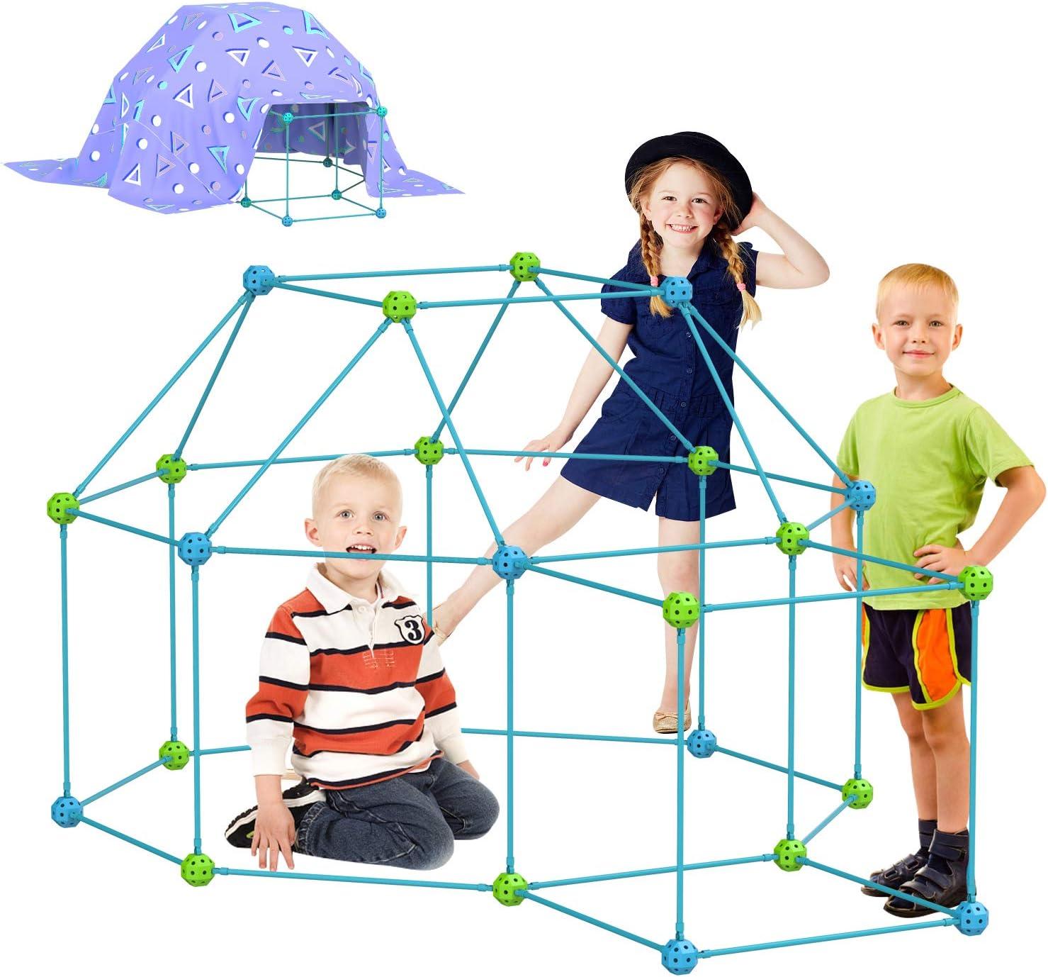 INFUN 120 Pieces Kids Fort Cash special price Excellent Kit Buil Crazy Building Construction