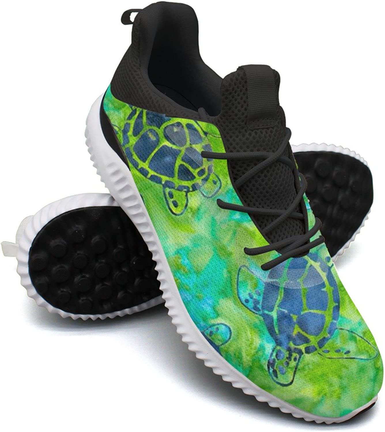 Green Watercolor Sea Turtles Leisure Sports Running shoes Women's Neutral Unique Cute