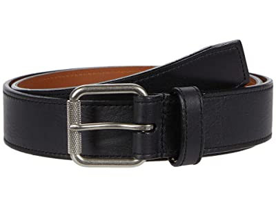 Shinola Detroit 1 1/2 Mack Belt Smooth Grain Leather BR (Black) Men