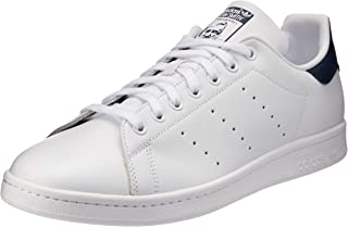 Adidas, Stan Smith Original Sneakers, Unisex, White/White/Dark Blue
