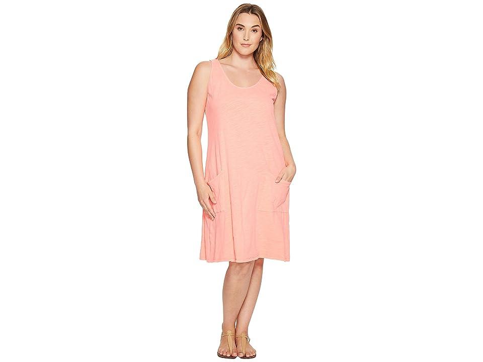 Extra Fresh by Fresh Produce Plus Size Drape Dress (Sunset Coral) Women