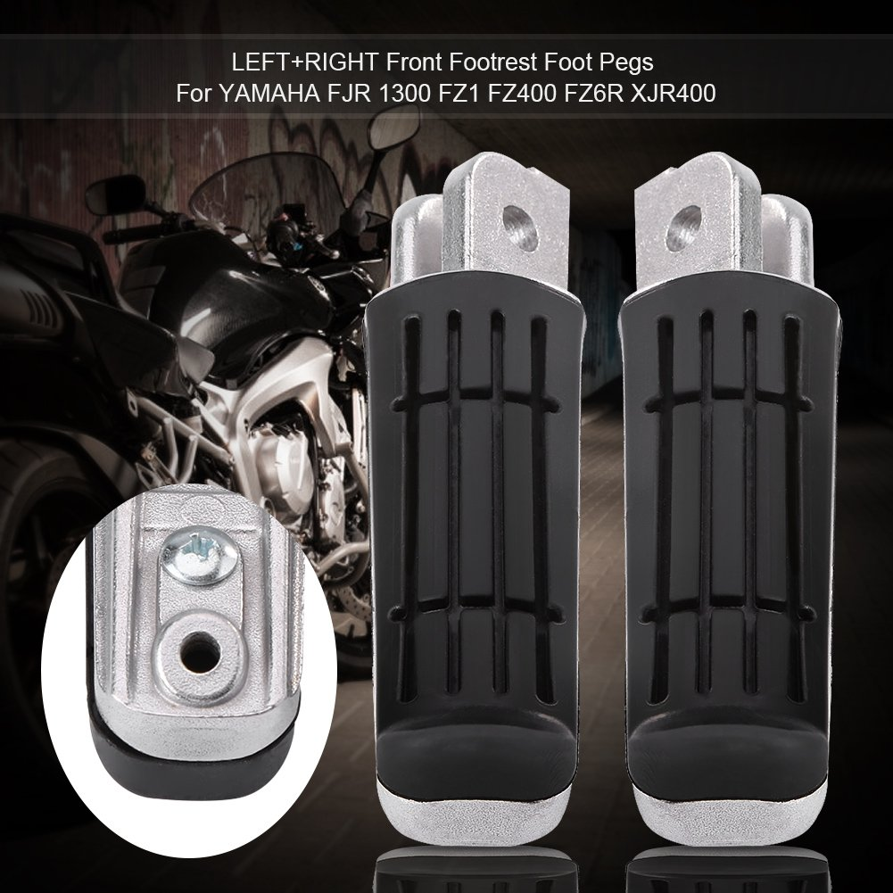 Pair of Foot Pegs for Motorcycle Front Footrests for XJR400 1200 1300 FZ400