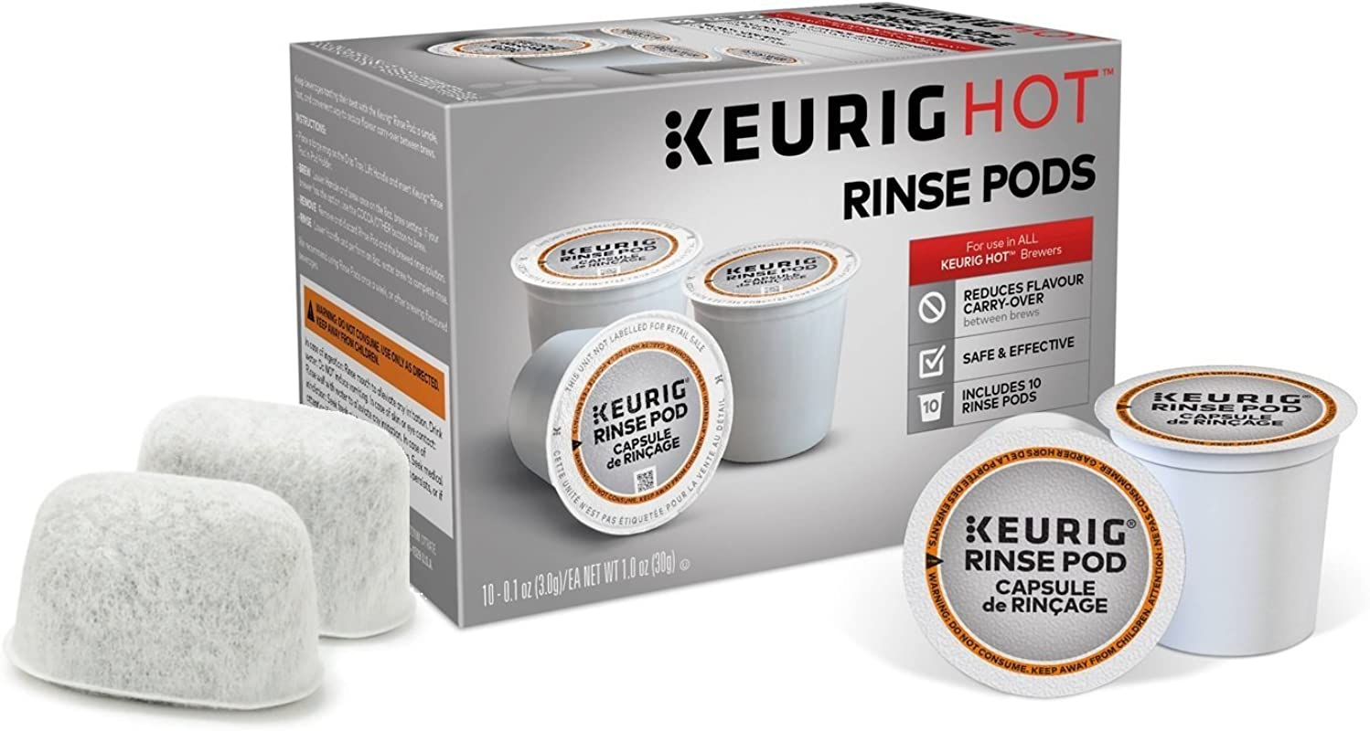 Descaling And Maintenance Kit For Keurig Brewers Includes 10 Keurig Rinse Pods Plus 2 Water Filters