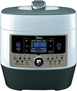 Midea Multi Pressure Cooker, 6 Liter capacity, Power 1000W, 14 preset menu, White, MYSS6062
