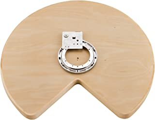 Rev-A-Shelf - 4WLS401-28-BS52 - 28 in. Wood Kidney Shape Lazy Susan Single Shelf with Swivel Bearing