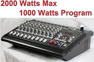 GTD-Audio 10 Channal 2000Watt Professional Powered Mixer Amplifier (500w RMS )