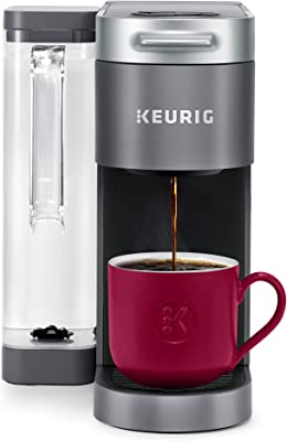Keurig K-Supreme Coffee Maker, Single Serve K-Cup Pod Coffee Brewer, With MultiStream Technology, 66 Oz Dual-Position Reservoir, and Customizable Settings, Gray