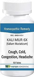 Kali MUR 6X (Kalium Muriaticum). Homeopathic Tissue Salts. 925 Tablets