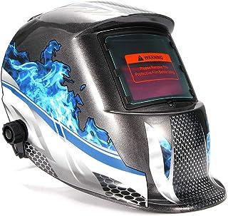OurLeeme Casco para Soldar, Gafas Solares Lente Fotoeléctrico Protección UV Soldador Máscara Casco Ojos Automáticos