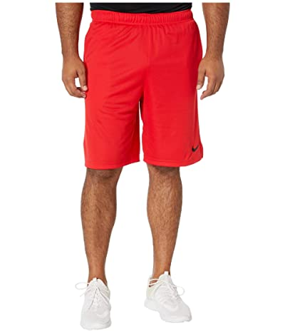 Nike Big Tall Dry Training Shorts (University Red/Black) Men
