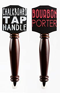 Chalkboard Tap Handle For The Draft Beer Lover's Kegerator or Bar (Dark - 2 Pack Bundle)