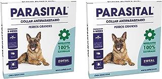 Parasital Collar Antiparasitario de 75 cm para Perros Grandes de Zotal, Pack de 2 - Repelente de Pulgas, Garrapatas y Mosquitos. Actúa contra el Phlebotomus Transmisor de Leishmaniosis - 100% Natural