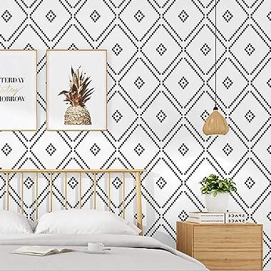 DAWEI Nordic Style PVC Wallpaper Art Geometric