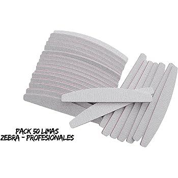 Pack 50 Limas de Uñas Profesionales/Limas 100-180 de uñas/Lima Zebra Profesionales/Lima para uñas/Suplemento de uñas/: Amazon.es: Belleza