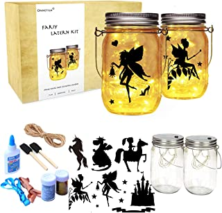 Onnetila Fairy Lantern Craft Kit for Girls and Boys (2 Pack) - Fairy Nightlight Kit Make Your Own Fairy Garden Jar - DIY C...