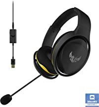 ASUS TUF Gaming Headset H5 Discord Certified with Onboard 7.1 Virtual Surround Sound and Dual Microphones, TUF Headset H5