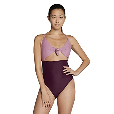 Speedo Tie Front One-Piece (Potent Purple) Women