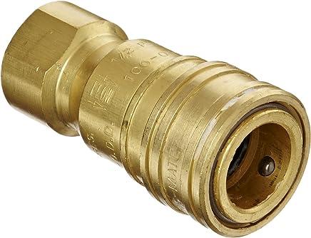 Industrial Interchange Eaton Hansen 520 Brass 1000//400//500 Series 1//2 Body Size x 1//2 NPT Female Coupler Socket