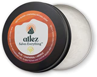 allez outdoor   Salves Everything Hand Salve   Hand cream to repair and heal nicked and calloused hands   PH Balanced Lotion   Desert Series   Chapparal and Cactus Bloom Scent   1.5 oz.