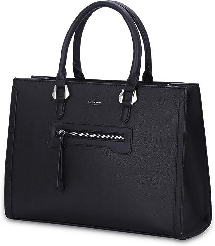 David Jones - Bolso de Mano Trabajo Mujer - Shopper Tote Bag PU Piel - Grande Bolso Bandolera Hombro Cuero Asa Superi...