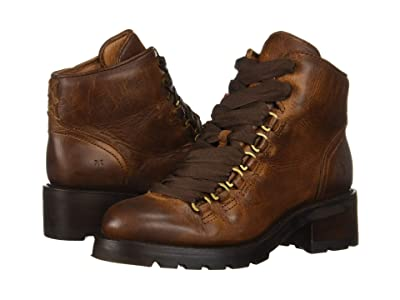 Frye Alta Hiker (Cognac Washed Antique Pull-Up) Women