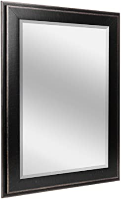 Head West Black 2 Step Mirror, 29.5 X 35.5