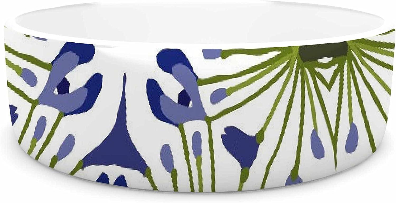 KESS InHouse Laura Nicholson Thalia  Olive Floral Pet Bowl, 7