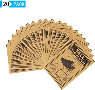 Sutify 20Packs Fly Paper,Fly Trap,Fly Strips Effective and Portable Fly Traps for Outdoor and Indoor Use (Brown-20Packs)