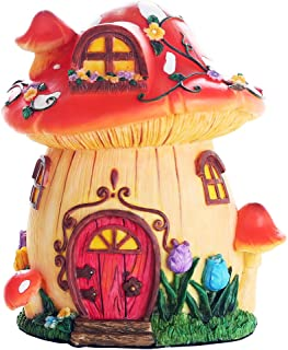 Pacific Giftware Miniature Fairy Garden of Enchantment Mushroom Fairy Toadstool Cottage Figurine Display 6.5 Inches