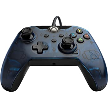 PDP 048-082-NA-BL Wired Controller for Xbox One, Xbox One X and Xbox One S, Midnight Blue