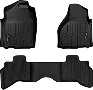 MAXLINER Floor Mats 2 Row Liner Set Black for 2009-2012 Dodge Ram 1500 Quad Cab