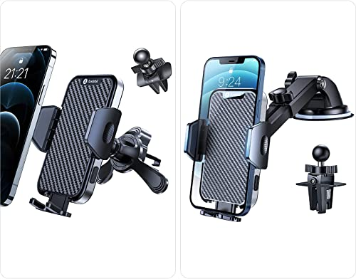 2021 Andobil Car Vent Phone Holder + Car Phone Holder Mount [Never Fall Off wholesale & First-ever Easy new arrival Clamp] for All Cars Dashboard Windshield Air Vent Car Mount for iPhone 12 Pro Max 11 XS X 8 Samsung Galaxy & Th online sale