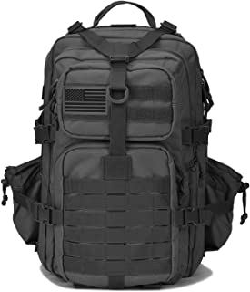 Military Tactical Backpack w/Bottle Holder, Small 3 Day Assault Pack Army Molle Bug Bag Backpacks Rucksack for Hiking Camping Trekking Hunting Travel