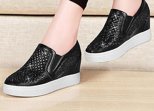 Oudan Parmi Les Petites Chaussures Blanches Net chaussures Femmes Chaussures Chaussures pour Aider Les Chaussures Chaussures Chaussures (Couleuré   Noir, Taille   36)  prix ultra bas