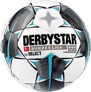 Derbystar 2019/2020 Brillant APS Bundesliga FIFA Match Soccer Ball, Size 5, White