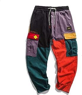 Aelfric Eden Men's Color Patchwork Cargo Pants Hip hop Joggers Streetwear