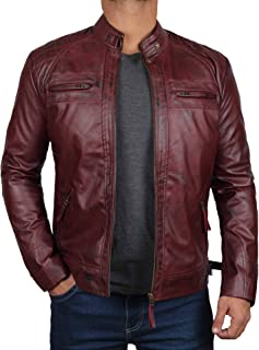 Leather Jacket Men - Café Racer Motorcycle Real Lambskin Leather Biker Jacket