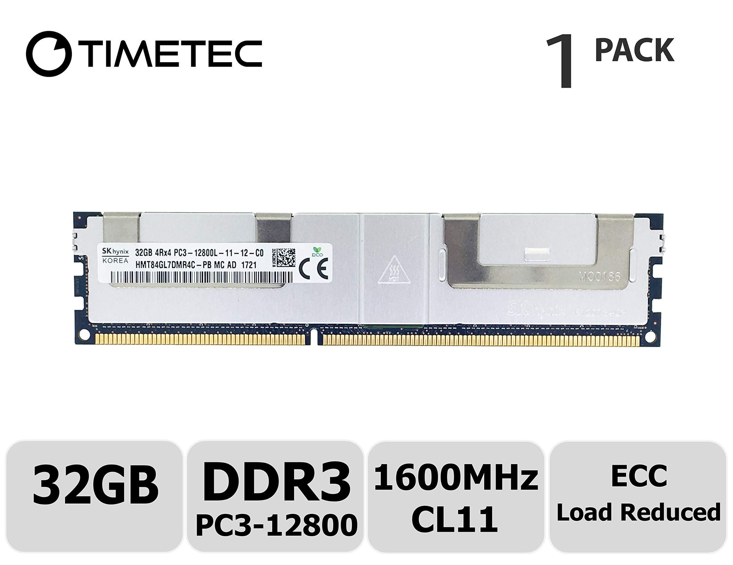 32GB Memory for Gigabyte GA-7PXSL Motherboard DDR3L PC3-12800L 1600MHz ECC LRDIMM PARTS-QUICK Brand